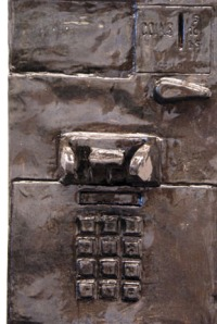 SCALE MODEL Zetterower Payphone (Detail), 2012  Ceramic