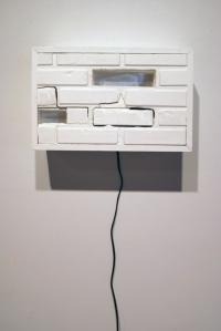 "Savannah Avenue Wall Fragment (18""X 24"" Wood, Metal, Light)"