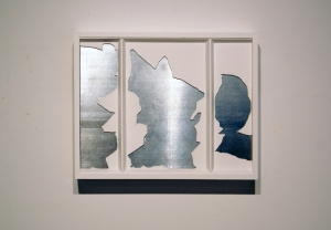 "Mulberry Street Window Fragment (20""X27"" (wood, metal)"