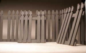 Fence Maquette, 2013 Wood